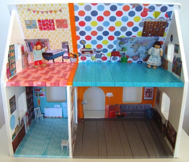 Bliss Dollhouse Wallpaper: Mousehouse: A Washi Tape Dollshouse