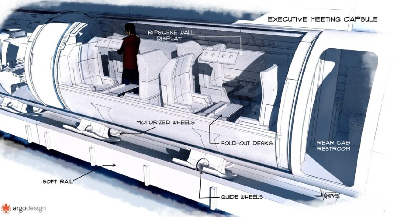 a hyperloop can be done underground all over the united states and it can go through both solid places underground and also go under the ocean