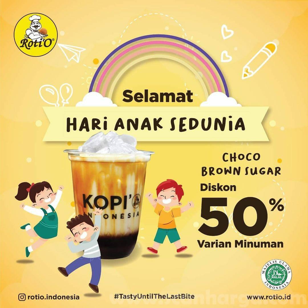 Roti'O Promo Hari Anak Sedunia: Diskon 50% untuk Choco Brown Sugar Varian minuman