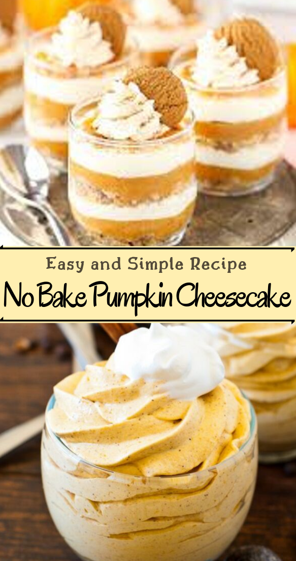 No Bake Pumpkin Cheesecake #desserts #cakerecipe #chocolate #fingerfood #easy