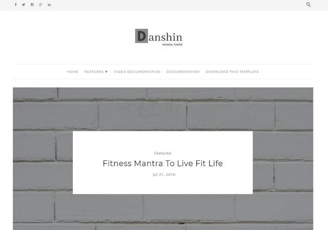 Chia sẻ Template Danshin cho Blogger, free Template