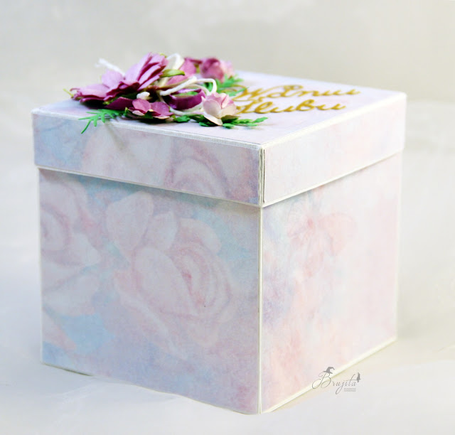 exploding box, Co Bóg złączył, życzenia ślubne, AltairArt inspiracje, box z tekturką, na ślub, na zamówienie, kartka ślubna, jak przeazać pieniądze w prezencie ślubnym, życzenia na słodko