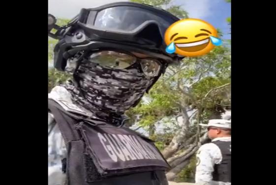 Video: Elementos de La Guardia Nacional se burlan de Sicarios de El CJNG; pura gente de López Obrador ALV