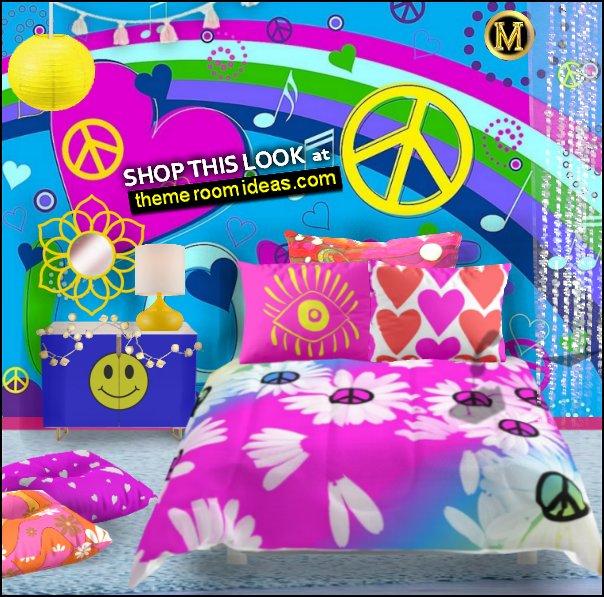 hippie bedroom psychedelic bedrooms retro bedroom decorating groovy bedrooms Hippy Bedrooms - 60s style theme decorating - 70s theme decorating - groovy 70's Theme Decor - Flower Power Bedrooms - 70s theme bedroom decorating - Psychedelic Tie Dye Hippie Hippy style flower power era - peace sign decor - hippie decor - Retro 60s Groovy 70s Psychedelic hippie Costumes - bohemian bedrooms -