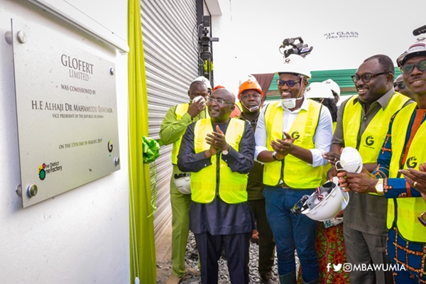 VP Bawumia Commissions Ghana's Largest Fertilizer Plant Under 1D1F