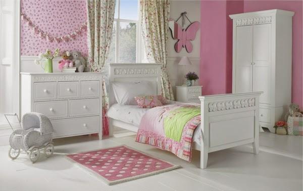 dormitorio color rosa para niña