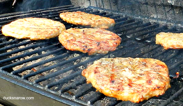 Italian sausage patties, grilling, cookout, picnic food