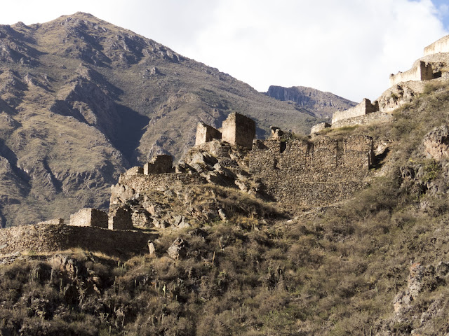 Pinkuylluna Ruins above Ollantaytambo Peru in the Sacred Valley