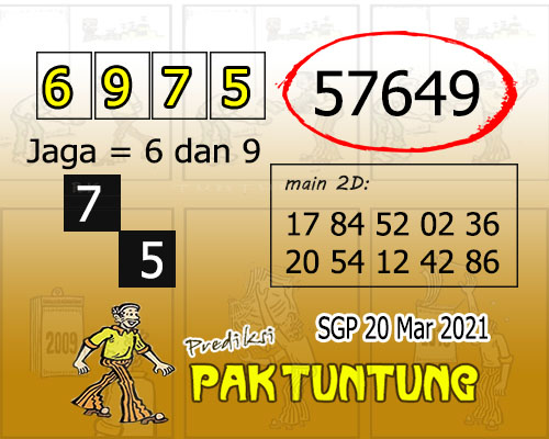 Syair SGP Sabtu 20 Maret 2021 -