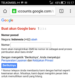 Daftar Gmail Via HP