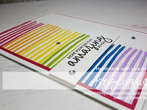 de Stempelkeuken Stampin'Up! producten koopt u bij de Stempelkeuken #stempelkeuken #stampinup #stampinupnl #stampinupdemonstrator #incrediblelikeyou #springsummercatalogue #ssc #amazing #loveyou #stamping #stempelen #cardmaker #handmadecards #kaartenmaken #handgemaakt #snailmail #echtepostiszoveelleuker #regenboog #rainbow #somewhereovertherainbow #workshop #denhaag #westland #rijswijk #natuur #cardmaking #papercrafting #papercrafter #colorful #colours