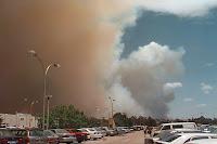 Smoke over Canberra, 18 January 2003