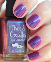 Chaos & Crocodiles Hella Holo Customs Cheshire Rose