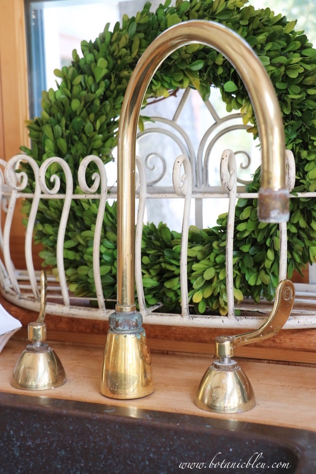 garden-shed-salvaged-brass-gooseneck-faucet