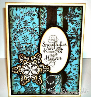 ODBD Products - Snowflake Background, Sparkling Snowflakes, ODBD Custom Snowflakes Die, Snowflake Sentiments