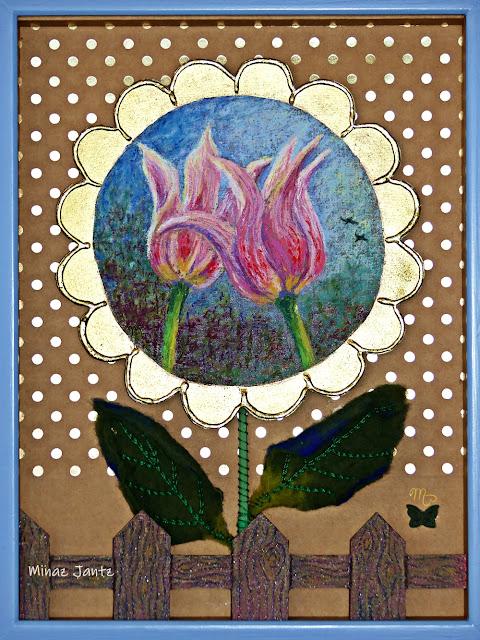The Romance of Flowers by Minaz Jantz ( Pastel & multimedia)
