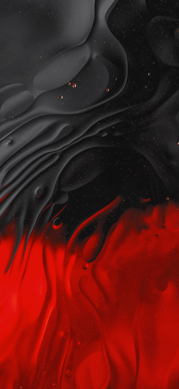 خلفية تداخل تجريدي للألوان الحمراء و السوداء