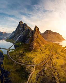magnífica vista da islândia