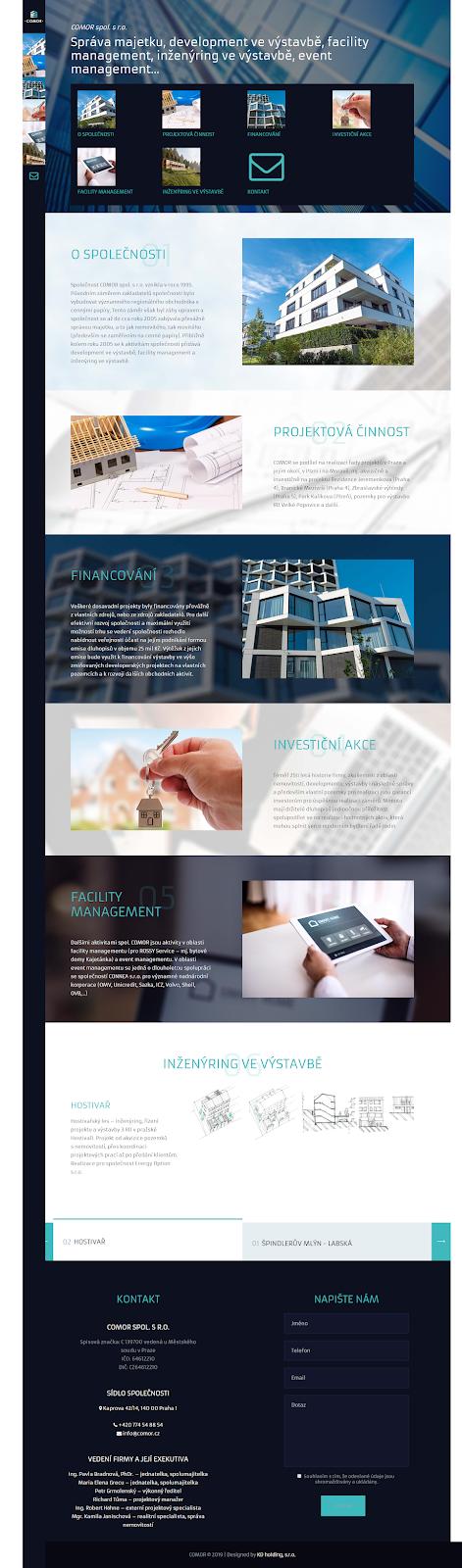 Správa majetku, development ve výstavbě, facility management, inženýring ve výstavbě, event management
