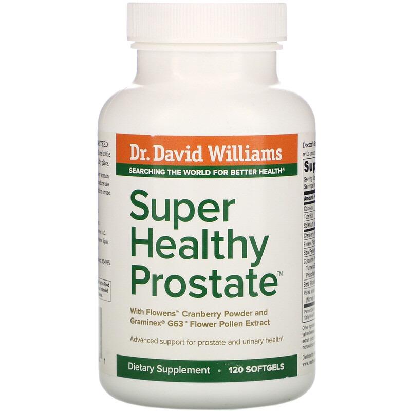Dr. Williams, Super Healthy Prostate, 120 Softgels