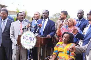 Hon Raila Odinga issuing a statement about the demonstrations on 4th January, 2017. PHOTO | Courtesy