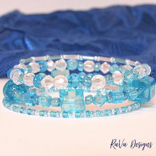 winter colors handmade jewelry idea stacked bracelets