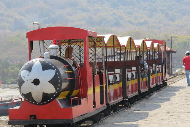 Toy Train on the Island