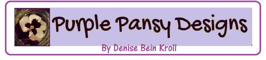 Purple Pansy Design