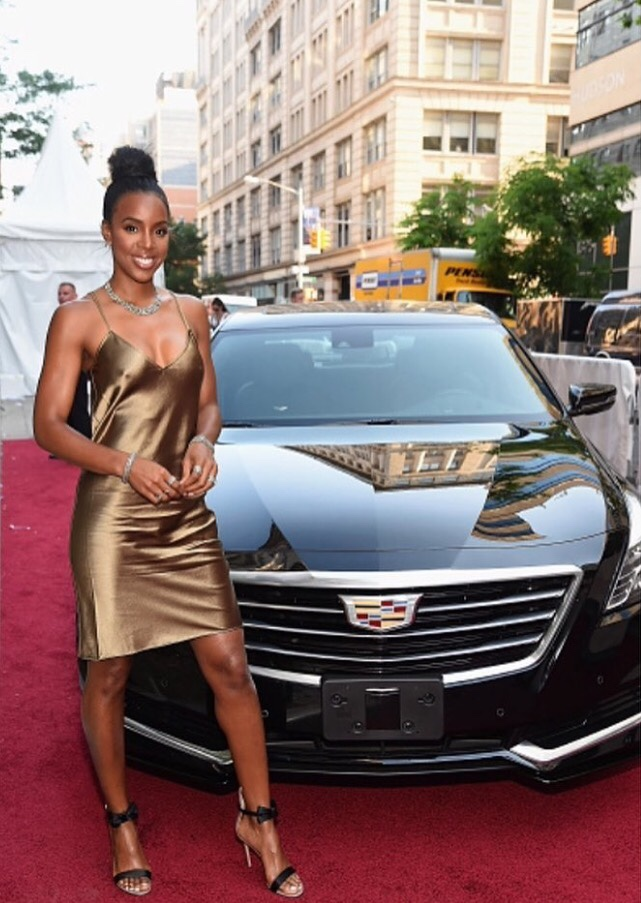 Kelly Rowland's Bun Is Elegant & Perfect For Summer Nights