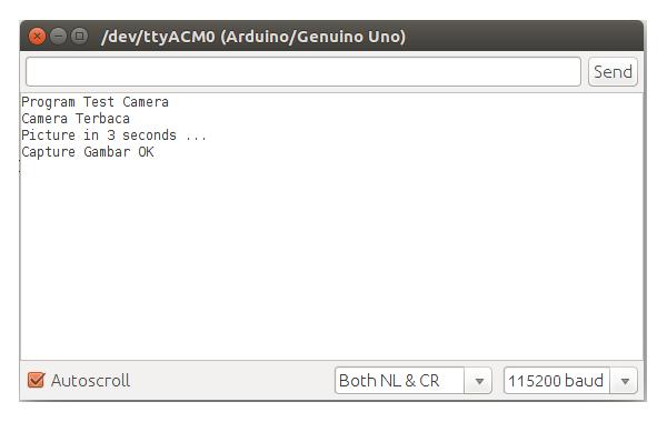 Serial Monitor Camera Serial VC0706 Dengan Menggunakan Arduino