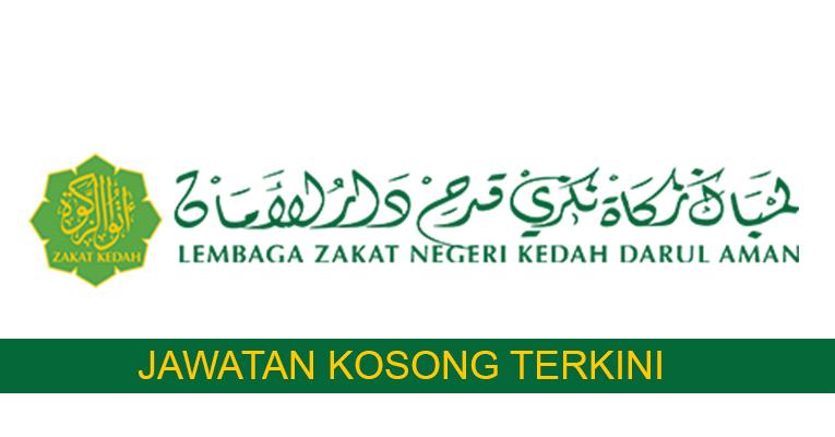 Kekosongan Terkini di Lembaga Zakat Negeri Kedah Darul Aman