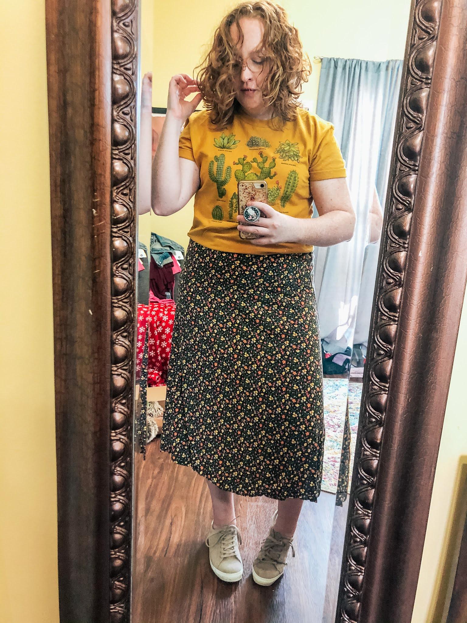 dark-floral-skirt-cactus-graphic-tshirt