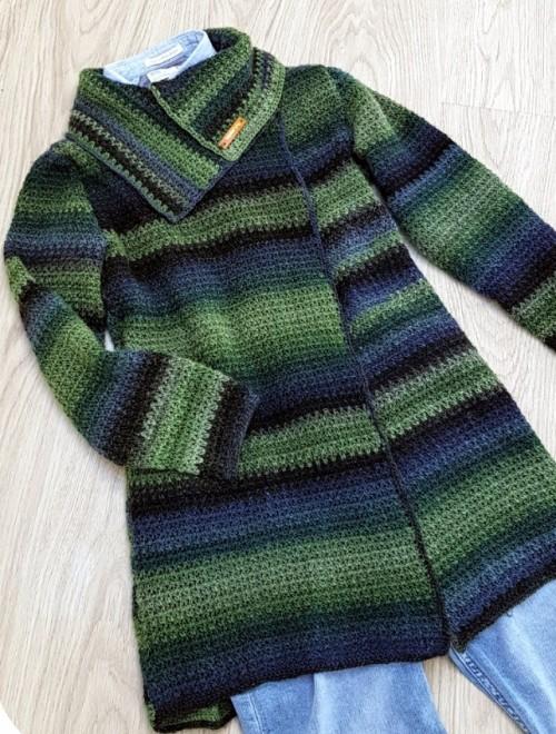 Easy to wear Cardigan - Free Crochet Pattern