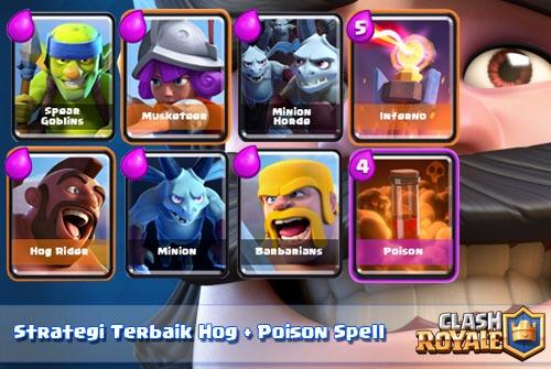 Strategi Deck Hog dan Poison Untuk Arena 5 Keatas Clash Royale