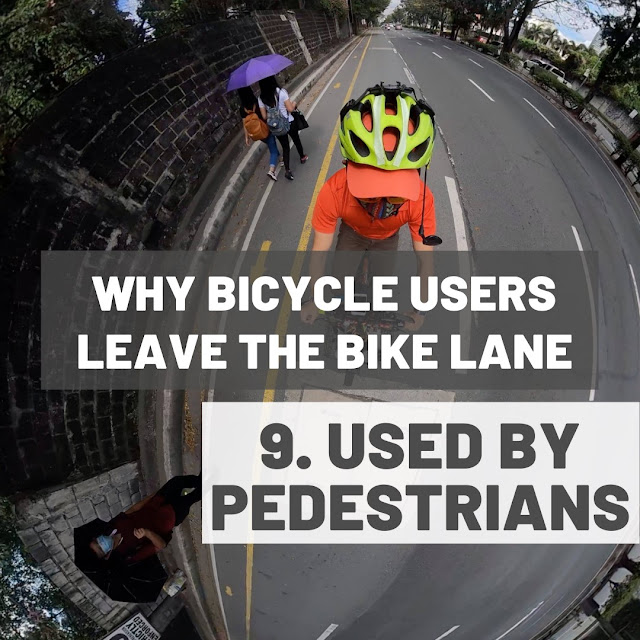 Bike lanes being used by pedestrians