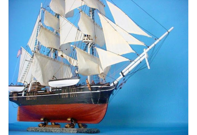 Whaling Ship Model Charles W. Morgan Barque