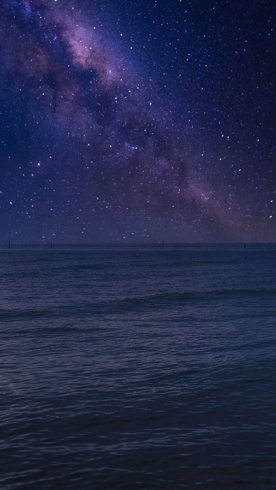 Milky way in the beach