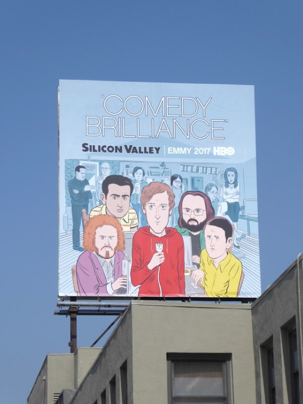 Silicon Valley Comedy Brilliance Emmy FYC billboard