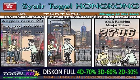 Prediksi Togel Hongkong Minggu 31 Mei 2020 - Syair Pak Tuntung