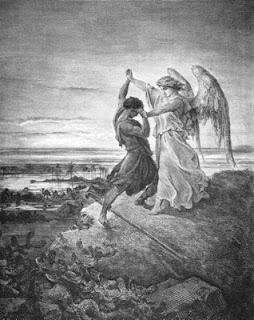 Ο Ιακώβ παλεύει με τον άγγελο (1855)