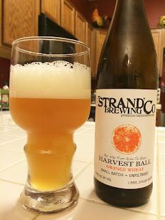 Strand Harvest Ball Orange Wheat Witbier 1