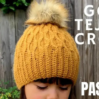 Gorro Ondas a Crochet