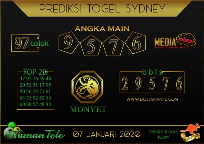 Prediksi Togel SYDNEY TAMAN TOTO 07 JANUARI 2020