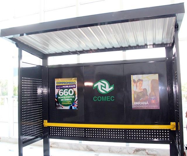 COMEC entrega 60 novos pontos de ônibus para Prefeita Beti Pavin instalar em Colombo