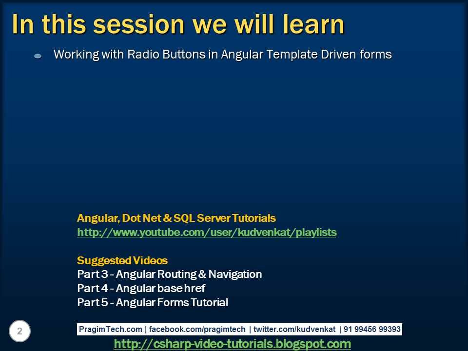 Sql server, .net and c# video tutorial: Bootstrap radio