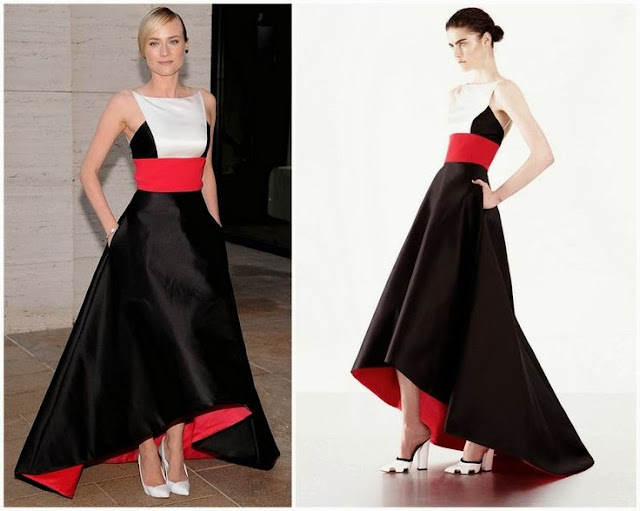 Diane Kruger in Prabal Gurung (Resort 2014) – Metropolitan Opera Season Opening Production Of 'Eugene Onegin'