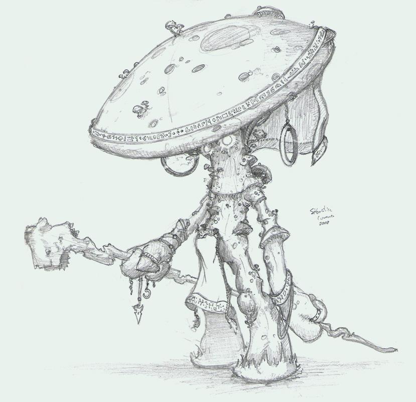 Fungus Lizard Fantasy Art