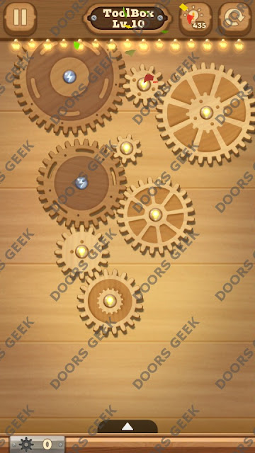 Fix it: Gear Puzzle [ToolBox] Level 10 Solution, Cheats, Walkthrough for Android, iPhone, iPad and iPod