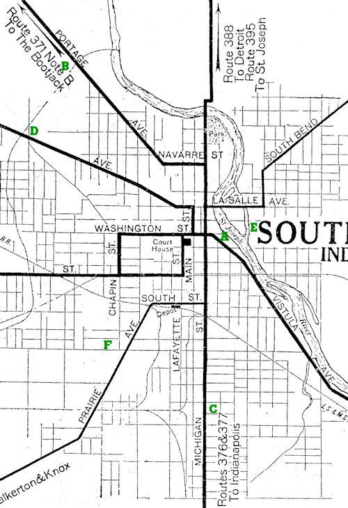 Hoosier Beer - South bend map
