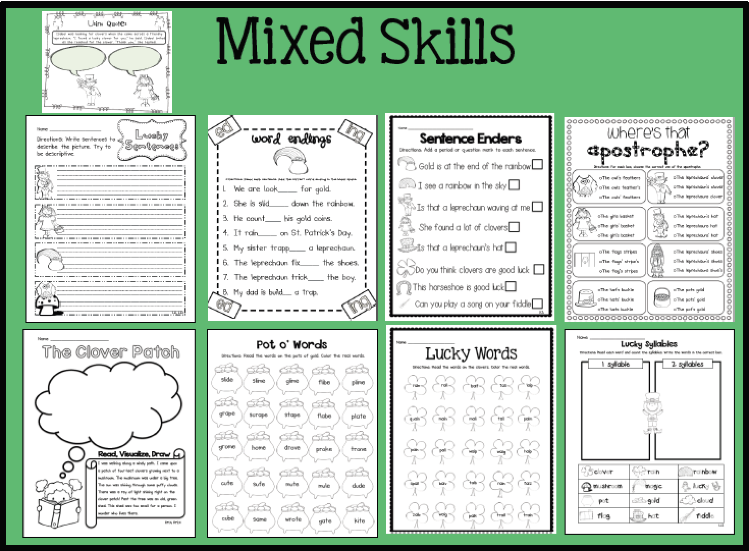 Sarah S First Grade Snippets St Patrick S Day Activities